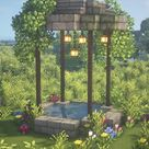 Minecraft Fairy Wishing Well 🍄🌿✨ Magical Fairy Tail Aesthetic Cottagecore Build