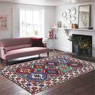 Colorful Geometry Printed Bohemia Carpet Bedroom Rug Home Morocco Decor Ethnic Style Carpet Living Room Bathroom Washable Nordic