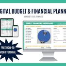 Annual Budget + Personal Wealth Dashboard | Savings + Debt Payoff Tracker | Finance Planner | Excel Download