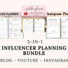Influencer Planner Bundle for Bloggers and Influencers  Blog   Etsy