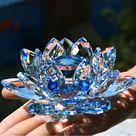 Quartz Crystal Lotus Flower Ornament Gift