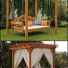 Outdoor Cedar Swing Bed & Pergola | The Owner-Builder Network