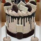 Oreo Cookies n' Cream Birthday Celebration Cake
