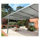 Toile d'ombrage perméable de 5x4m à tendre sur structure pergola | Gris Platine