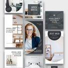 Real Estate Instagram Post Stories Templates, Realtor Canva set