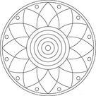 Mandala Ausmalbild Blume - gratis Download