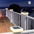 4x4 Solar Post Cap Lights White, 30 Lumen Solar Deck Post Lights 3 Colors Dusk to Dawn Solar Post Cap Lights with High Lumens Fits 4x4 5x5 or 6x6 Wooden Posts Fence Deck or Patio (4 Pack) - - Amazon.com