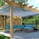 Pergola im Garten - Sonnen- und Sichtschutz aus Holz