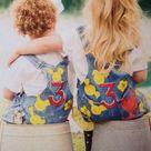 Barnyard Denim Overalls for Toddler Girl Hand Painted Farm Birthday Outfit, Custom Bday Oalls Little Girl, Blush, lavender, cows, pig, horse