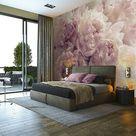 Vlies Fototapete Schlafzimmer BLUMEN 3D Rosa Pfingstrose Romantisch Rosen beige  | eBay
