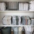 See-Through Linen Closet Caddies