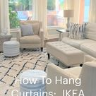 How To Hang Curtains:  IKEA Tips & Tricks by thetarnishedjewelblog.com