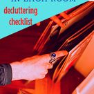 Decluttering Checklist- 2020 edition -October 16th YEAR LONG THOROUGH DECLUTTER SERIES