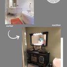 DIY | Badezimmer | Fliesen und Wände streichen | Kreidefarbe von Shabby World | Makeover | Bathroom