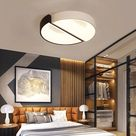 Modern Led Ceiling Lights For Living Room Bedroom Lamparas De Techo Dimming Ceiling Lights Lamp Fixtures Led Light Ceiling White and Black-45x45x10cm 32w-Warm white no remote 2