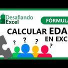 CALCULAR EDAD en Excel   Fórmulas de Excel 40
