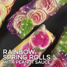 Rainbow Summer Rolls With Peanut Sauce Recipe    Food.com