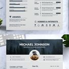 CV Template with Photo | Professional Resume Design for Word |