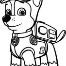 Chase Paw Patrol Coloring Pages
