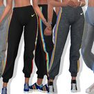Pinkzombiecupcakes' Nike Athletic Sweatpants With Side Rainbow Stripe