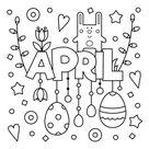 April Coloring Page • FREE Printable eBook