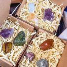 Mystery Crystal Bag, Tumbled  and Raw Crystal Box, Healing Crystal Sets, Protection, Anxiety, Joy Crystals, Mystery Crystal Set
