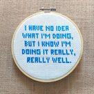 Parks & Rec Andy Dwyer Quote 2 Cross Stitch Pattern   Etsy