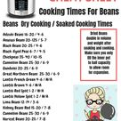 Instant Pot Dried Beans Cooking Times