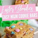 Easy Cookie Bar Blondie Recipe for Easter! - Lemon Peony