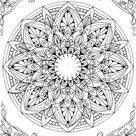 Mandala - Printable Adult Coloring Page from Favoreads (Coloring book pages for adults and kids, Coloring sheets, Colouring designs)
