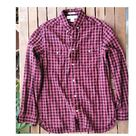 Oxford Button Down Shirt Casual Plaid Flannel Long Sleeve Red Black Vintage 90s (M)  Medium Size Chekered Shirt Unisex cotton