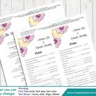 DiY Printable Program Wedding Template - Instant Download - EDITABLE TEXT - Flower 4