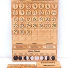 Classroom Size Calendar -- Wooden Perpetual Calendar -- Moon Phases