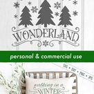 Winter Wonderland - Christmas - Snowflake - Winter - SVG (362607) | Cut Files | Design Bundles