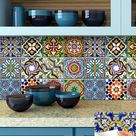 spanish Set of 24 Tiles Decals Tiles Stickers Tiles for walls Kitchen Bathroom AB2