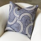 Global Views Arches Decorative Pillow Blue