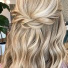 45 Beautiful half up half down hairstyles for any length : Twists and braids