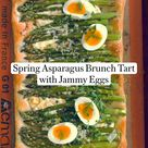 Peter Som's Spring Asparagus Brunch Tart with Jammy Eggs