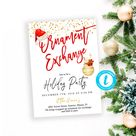 Ornament Exchange Invitation Editable Christmas party invites Holiday Party Template download Printable invite White Elephant Work Party