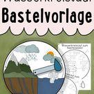 Wasserkreislauf Unterrichtsreihe - Arbeitsblätter, Experimente, Bastelanleitungen