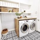 Before and After: This $345 Laundry Room Makeover Made a Cluttered Spot Bright and Airy