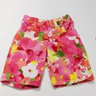 Janie and Jack Pink Watercolor Shorts Sz 4t