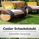 Recycling Idee Schaukelstuhl aus Reifen