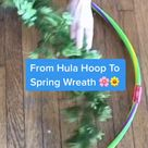 Easy Hula Hoop Spring Wreath DIY
