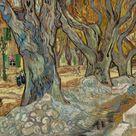 Vincent van Gogh, 1889 - The Large Plane Trees (Road Menders at Saint-Rémy) - fine art print - Metal print (Aluminium Dibond) / 120x100cm - 47x39