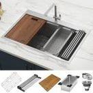 KOHLER Sous Pro-Style Single-Handle Pull-Down Sprayer Kitchen Faucet in Vibrant Stainless-K-R10651-SD-VS - The Home Depot