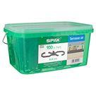 Spax Terrassendielen-Abstandhalter Kunststoff grau 6,5 mm 100 Stück