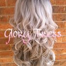 READY To SHIP // Long & Curly Silver/Gray Lace Front Wig, Ombre Silver Wig, Dark Rooted Bombshell Wig // SALVATION