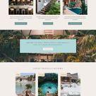 Website Design for Travel Blogger / Travel Blog Web Design