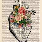 Heart Anatomy Print, Human Anatomy Art, Office Decor, Doctor Gift Idea, Anatomical Heart Print, Medical Student Gift, Nurse Gift Idea